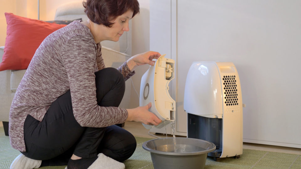 draining dehumidifier