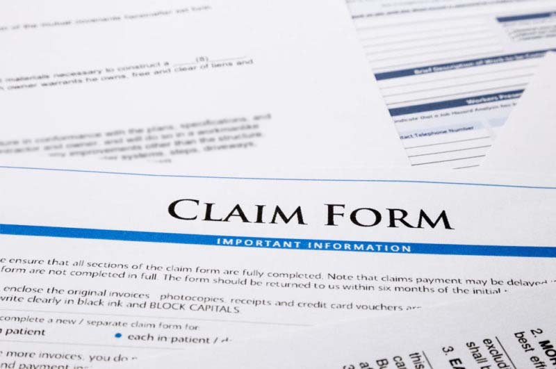 typical claim form